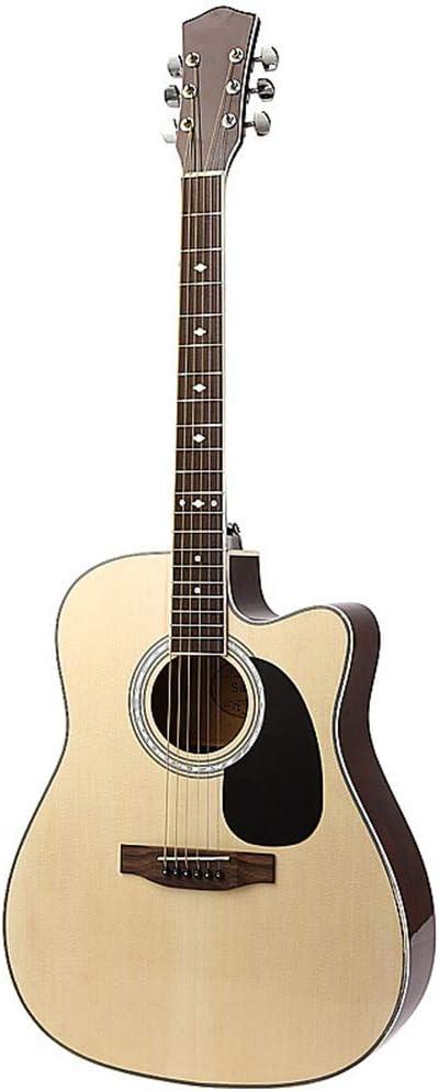DEAR-JY Guitarra Folk, Guitarra Folk 41 Pulgadas Práctica Guitarra Principiante Bajo para Todas Las Personas Que Aman La Música