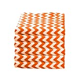 Babydoll Bedding 6 Piece Toddler Sheets Fitted Daycare Crib, Chevron/Orange