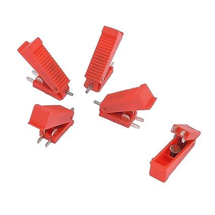 sourcingmap 5uds Interruptor para CO2 Pistola de Soldadura de Carcasa de Plástico Rojo