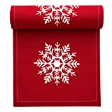 MYdrap SA11N1/701-2 Holiday Printed Cocktail Napkin, 4.5'' Length x 4.5'' Width, Red with White Snowflake (10 Rolls of 50)