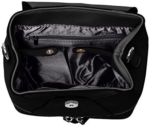 Swans Backpack Noir Black portés Hula dos Faux Leather Sacs Swanky IfZOxdf