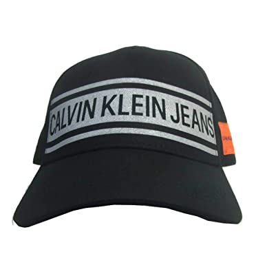 5b8127fdf11 Calvin Klein Men s Strapback Dad Hat 41JH967-1016 Black at Amazon ...