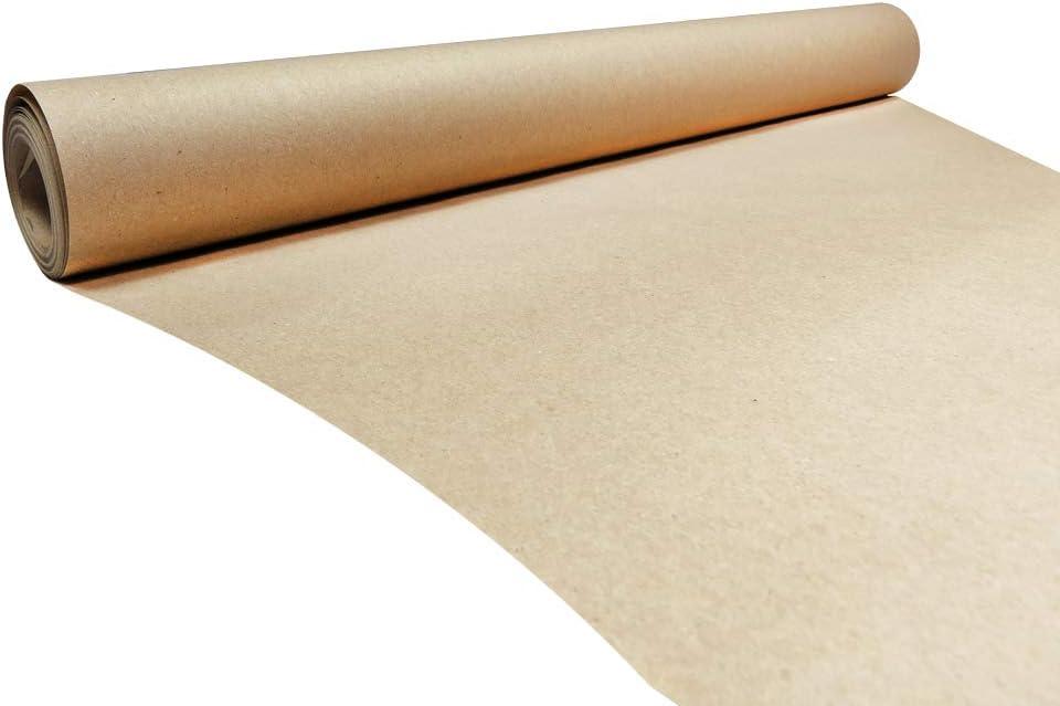rotolo di carta kraft marrone ecologica realizzato in 100/% carta riciclata rotolo di carta da regalo marrone da 10 m biodegradabile e completamente riciclabile 500 mm x 10 m Triplast