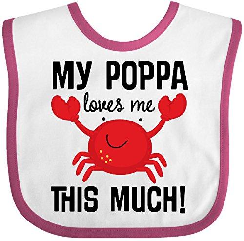 Crab Baby Bib (Inktastic - My Poppa Loves Me Childs Crab Baby Bib White/Raspberry)