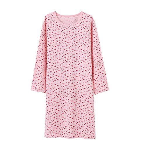 Wsorhui Girls Princess Nightgowns Flower Print Cute Sleep Shirts Cotton Sleepwear for 2-11 Years