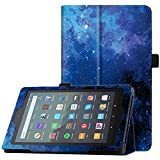 "Famavala Folio Case Cover Compatible with 7"" Amazon Kindle Fire 7 Tablet (9th Generation, 2019 Release) (Blugaxy)"