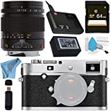 Leica M-P (Typ 240) Digital Rangefinder Camera (Silver Chrome) 10772 75mm f/2.5 SUMMARIT-M, Manual Focus + 64GB SDXC Card + Card Reader + Deluxe Cleaning Kit + Fibercloth Bundle