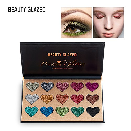 NEW Beauty Glazed 15 Colors Glitter Shimmer Eye Shadow Palet