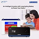 Luminous Zelio+ 1100 Pure Sine Wave Inverter with Red Charge RC 18000 150Ah Tall Tubular Battery for Home, Office…