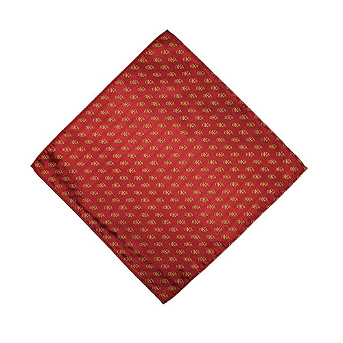 Pi Kappa Alpha Fraternity Necktie Tie Greek Formal Occasion Standard Length Width Hanky Pocket Square pike (Letter Hanky)