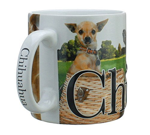 Mug, Best Friend Series, Chihuahua, Raised Lettering, 18 oz. (Chihuahua Travel Mug)