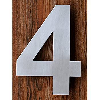 Amazoncom Modern House Numbers Aluminum Modern Font Set of Four