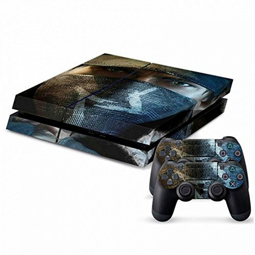 Price comparison product image MODFREAKZ Console and Controller Vinyl Skin Set - Hacker Aiden Pearce Watch Dogs for Playstation 4