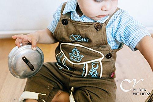 cuir Pantalon coton pantalon bébé en en mogo imitation et Stick Hellbraun Blau de BLH en courte cuir CC longue wHpqwgSt