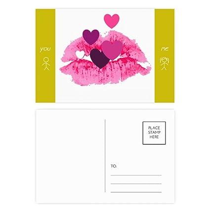 DIYthinker Rosa Lip Corazones de San Valentín Día del amigo ...