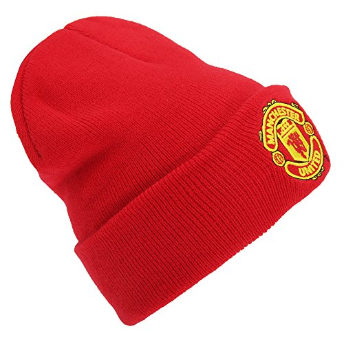 Tejido Sombrero Escudo A FC Camiseta Manchester Invierno United Adultos rojo Oficial Fútbol fOq4vWHwT