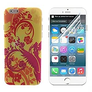 QHY The Bird and Tree Design Hard with Screen Protector Cover for iPhone 6