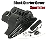 Black Starter Cover For Harley Sportster XL 883 XL 1200 Models 2004-2009 05 06 07 08 09