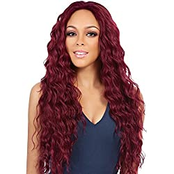 Synthetic Long Wavy Red Wig Loose Body Wave Wigs for Black Women Natural Hair Wigs Red Color Long Deep Curly Wigs Heat Resistant Fiber Full Wig