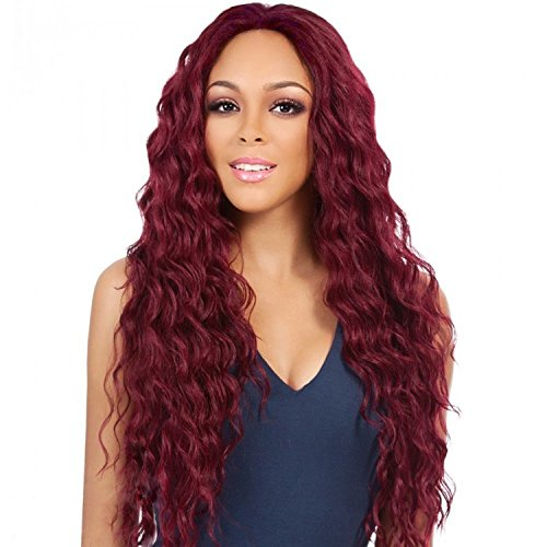 Synthetic Long Wavy Red Wig Loose Body Wave Wigs for Black Women Natural Hair Wigs Red Color Long Deep Curly Wigs Heat Resistant Fiber Full (Realistic Body)