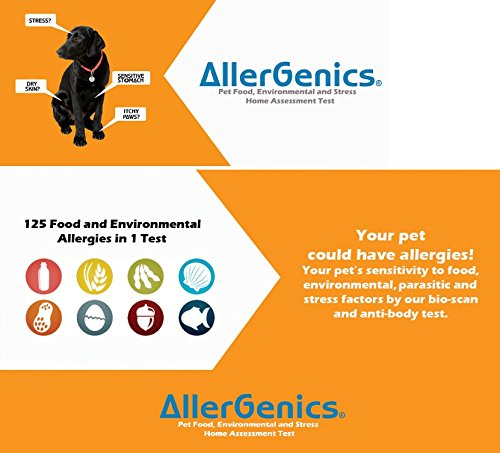 AllerGenics - Pet Food and Environmental Intolerance Test (125 factors + stress) - #1 Food Intolerance and Allergy Test for Pets