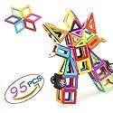 Kofan 磁気ビルディングブロック95個のタイルDIYの教育おもちゃの誕生日クリスマスの子供のためのギフト