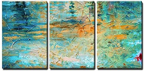Abstract Oil Paint Texture x3 Panels