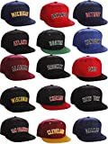 I&W Hatgear Classic Flat Bill Visor USA Cities State Snapback Hat 3D Raised Silicon Letters Cap