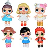6 pcs   13cm LOL Doll Girls Toy LOL Doll Dress Up Baby Dolls Serie Toys For Girls Figurines