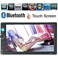 ExGizmo 12V 7 HD Car MP5 player Bluetooth Touch Screen Stereo Radio+ Camera