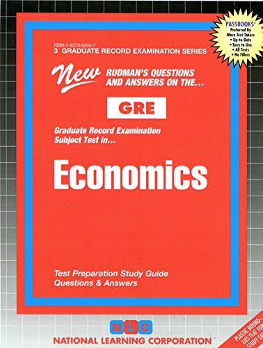 ECONOMICS (Graduate Record Examination Series) (Passbooks) (GRADUATE RECORD EXAMINATION SERIES (GRE))