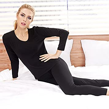 12fd210f4b12 Image Unavailable. Image not available for. Color: LVLIDAN Thermal  Underwear winter feminine thin ...