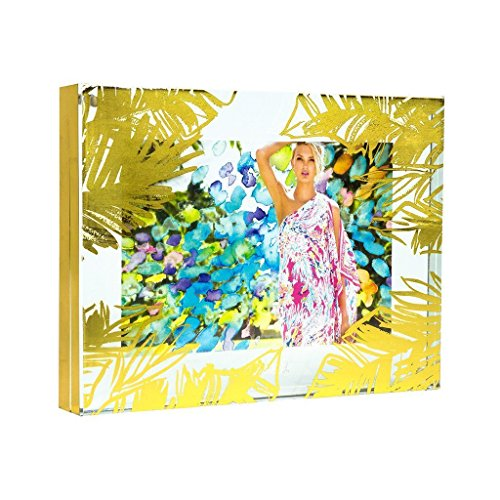 Lilly Pulitzer Gold Leaves 5X7 Photo ()