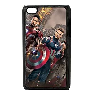 iPod Touch 4 Case Black Captain America lwzx