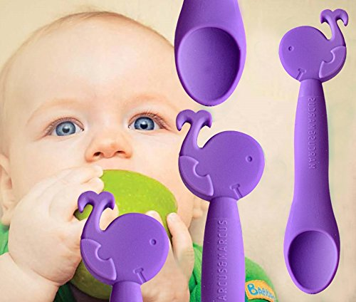 Marcus & Marcus WILLO THE WHALE Silicone Baby Feeding Spoon 11022