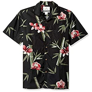 Amazon Brand – 28 Palms Men's Standard-Fit 100% Cotton Tropical Hawaiian Shirt