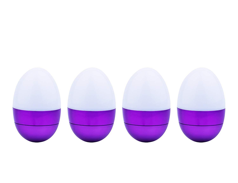 Egg Light Mini Flashlight with Batteries,Table Lamp Handheld Night Light Tumbler Toy,Purple(4 Pack)