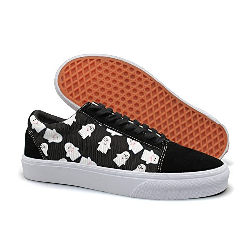 HMAG Women Skate Shoes Jogging Shoes Cute Ghost Pattern Lightweight Sneaker For Casual Outfits