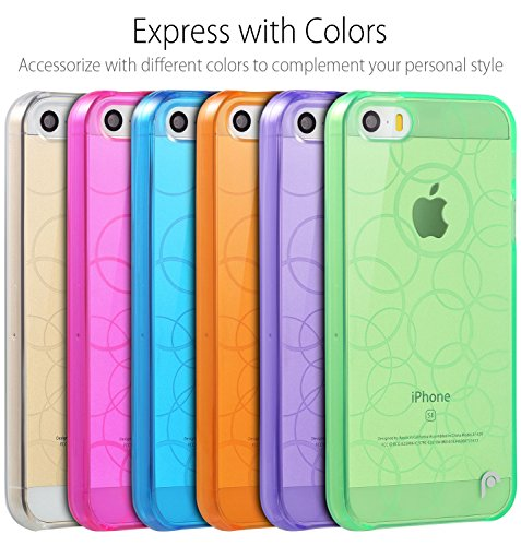 Fosmon DURA TPU Entwurf Case Cover hülle für iPhone 5 / 5s / SE - Multi-Circle - Blau