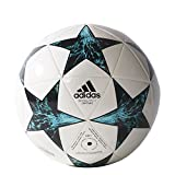 adidas Performance Champion's League Finale Capitano Soccer Ball, White/Core Black/Dark Green/Blue/Aqua, 5
