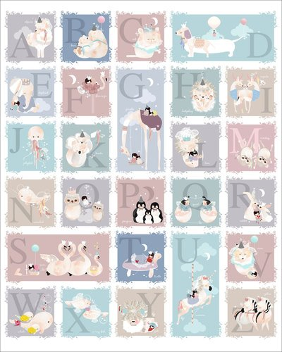 Oopsy Daisy Delicate Creatures Alphabet by Schmooks Canvas