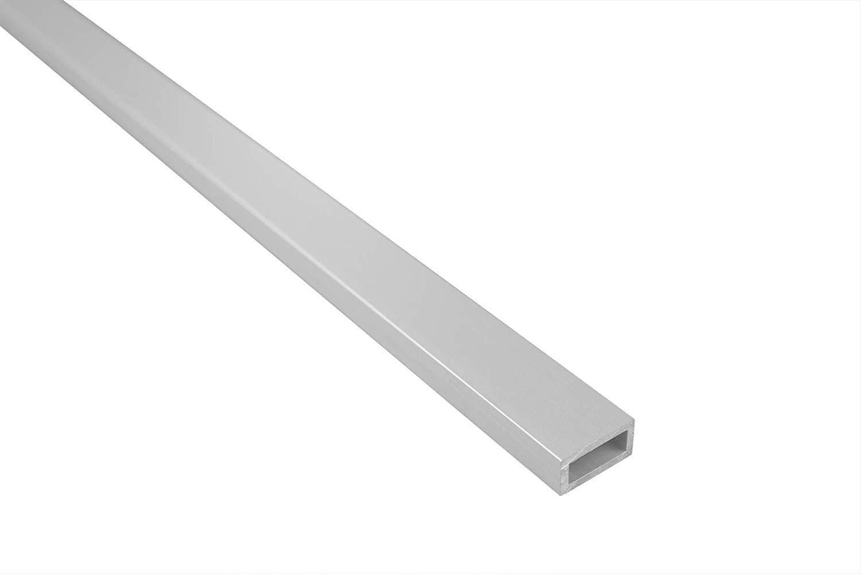 15x10mm belastbar silber Rechteckrohr 2 Meter Alu Effector B51 eloxiert