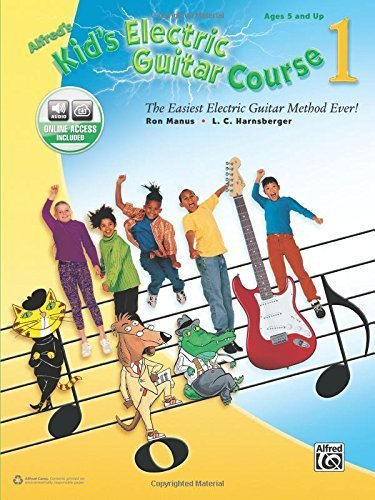 Alfred's Kid's Electric Guitar Course 1: The Easiest Electric Guitar Method Ever!, Book & Online Audio (Kid's Guitar Course) by Ron Manus (2015-08-01)