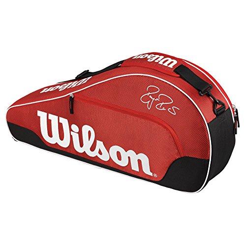 Wilson Federer Team III Triple Red Tennis Bag