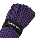 TITAN WarriorCord | PURPLE | 103 CONTINUOUS FEET | Exceeds Authentic MIL-C-5040, Type III 550 Paracord Standards. 7 Strand, 5/32'' (4mm) Diameter, Military Parachute Cord.