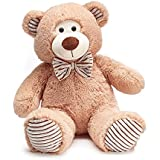 Burton plus burton Plush Honey Beige Fur and Corduroy Teddy Bear - 14 inch sitting