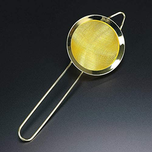 OHOME 1 PC 304 Stainless Steel Hawthorn Cocktail Strainer Fine Mesh Juice Copper Gold Color Bartender Tools,Burgundy