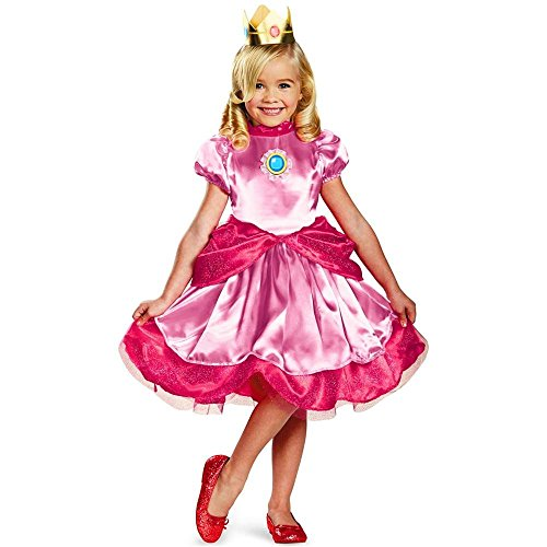 Princess Peach Costume - Toddler Medium (Princess Peach Costume Toddler)
