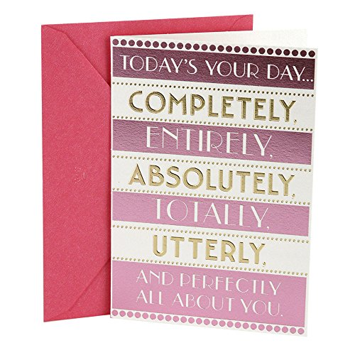 Hallmark Birthday Greeting Card for Her (Today's Your Day)