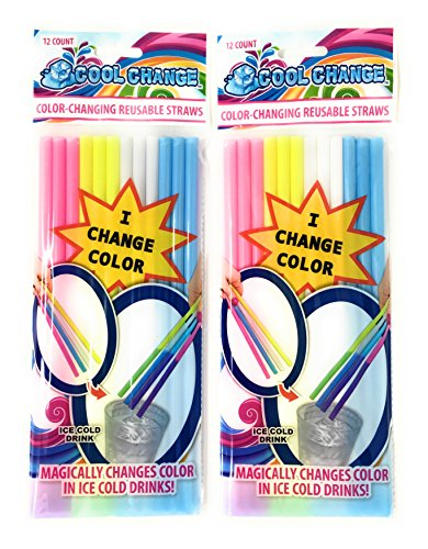 Straws That Change Color in Cold Drinks for $<!--$12.45-->